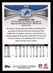 2012 Topps #358  Kevin Smith  Back Thumbnail