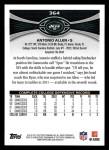 2012 Topps #364  Antonio Allen  Back Thumbnail