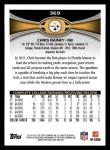 2012 Topps #369  Chris Rainey  Back Thumbnail