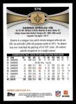 2012 Topps #376  Darren Sproles  Back Thumbnail