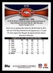 2012 Topps #379  Jason Hill  Back Thumbnail