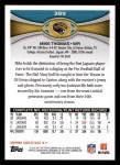 2012 Topps #389  Mike Thomas  Back Thumbnail