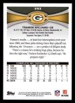 2012 Topps #393  Tramon Williams  Back Thumbnail