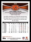 2012 Topps #402  Josh Cribbs  Back Thumbnail