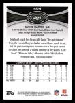 2012 Topps #404  David Harris  Back Thumbnail