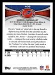 2012 Topps #408  Marcell Dareus  Back Thumbnail