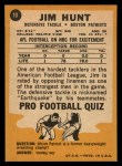 1967 Topps #10  Jim Hunt  Back Thumbnail