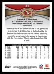 2012 Topps #415  Dashon Goldson  Back Thumbnail