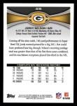 2012 Topps #416  Jordy Nelson  Back Thumbnail