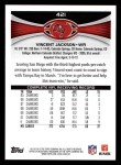 2012 Topps #421  Vincent Jackson  Back Thumbnail