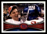 2012 Topps #422   -  Eli Manning NY Giants Champs Front Thumbnail