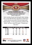 2012 Topps #426  Mario Manningham  Back Thumbnail