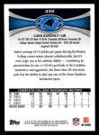 2012 Topps #433  Luke Kuechly  Back Thumbnail
