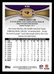 2012 Topps #436  Vonta Leach  Back Thumbnail