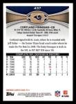 2012 Topps #437  Cortland Finnegan  Back Thumbnail