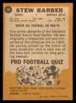 1967 Topps #18  Stew Barber  Back Thumbnail