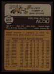 1973 Topps #650  Felipe Alou  Back Thumbnail