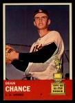 1963 Topps #355  Dean Chance  Front Thumbnail