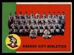1963 Topps #397   Athletics Team Front Thumbnail