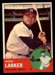 1963 Topps #536  Norm Larker  Front Thumbnail