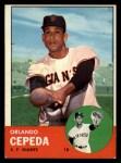 1963 Topps #520  Orlando Cepeda  Front Thumbnail