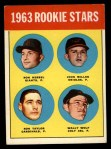 1963 Topps #208   -  Ron Herbel / John Miller / Wally Wolf / Ron Taylor Rookie Stars   Front Thumbnail