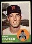 1963 Topps #374  Claude Osteen  Front Thumbnail