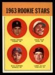 1963 Topps #407   -  Frank Kostro / Chico Ruiz / Larry Elliot / Dick Simpson Rookies   Front Thumbnail