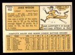 1963 Topps #453  Jake Wood  Back Thumbnail