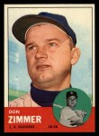 1963 Topps #439 xTCH Don Zimmer  Front Thumbnail