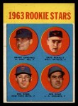 1963 Topps #562   -  Dave McNally / Ken Rowe / Randy Cardinal / Don Rowe Rookies   Front Thumbnail