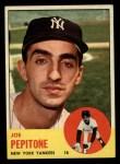 1963 Topps #183  Joe Pepitone  Front Thumbnail
