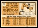 1963 Topps #197  Roger Craig  Back Thumbnail