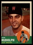 1963 Topps #291  Don Rudolph  Front Thumbnail