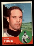 1963 Topps #476  Frank Funk  Front Thumbnail