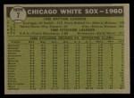 1961 Topps #7 YEL  White Sox Team Back Thumbnail