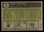1961 Topps #81  Tracy Stallard  Back Thumbnail