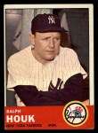 1963 Topps #382  Ralph Houk  Front Thumbnail