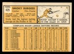 1963 Topps #425  Smoky Burgess  Back Thumbnail