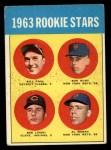 1963 Topps #558   -  Ron Hunt / Bill Faul / Al Moran / Bob Lipski Rookie Stars   Front Thumbnail