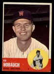 1963 Topps #423  Ed Hobaugh  Front Thumbnail