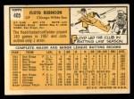 1963 Topps #405  Floyd Robinson  Back Thumbnail