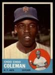 1963 Topps #27  Choo Choo Coleman  Front Thumbnail