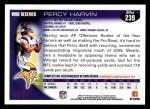 2010 Topps #239  Percy Harvin  Back Thumbnail