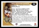2010 Topps #137   -  Drew Brees / Marques Colston Saints Team Back Thumbnail