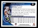 2010 Topps #51  Bob Sanders  Back Thumbnail
