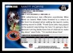 2010 Topps #375  Matt Forte  Back Thumbnail