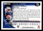 2010 Topps #126  Felix Jones  Back Thumbnail