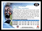 2010 Topps #315  Armanti Edwards  Back Thumbnail