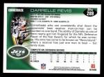 2010 Topps #289  Darrelle Revis  Back Thumbnail